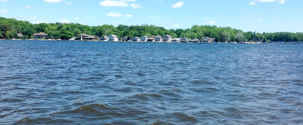 A view of Conneaut Lake from the rental property.